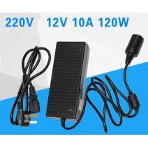 Adaptor chuyển điện 220V sang ổ cắm ô tô 12V (120w)