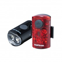 Bộ combo đèn an toàn trước sau Topeak Mini USB Combo (đèn đỏ và đèn trắng) TMS080
