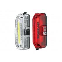 Bộ combo đèn an toàn trước sau Topeak AERO USB 1W Combo (đèn đỏ và đèn trắng) TMS084