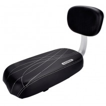 Yên nệm có tựa lưng cho baga xe đạp PN (đen)