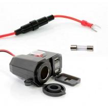 Ổ cắm SUMOCHEPIN USB 3 in 1 cho xe mô tô - xe gắn máy