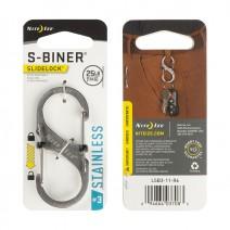 Móc khóa Nite Ize S-Biner SlideLock LSB3-11-R6 (bạc) (size #3)