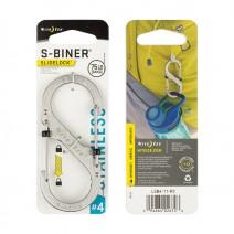 Móc khóa Nite Ize S-Biner SlideLock LSB4-11-R3 (bạc) (size #4)