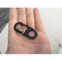 Móc carabiner thép mini EDC (đen)