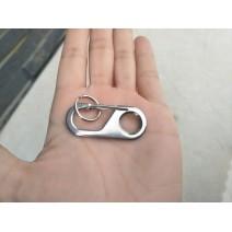 Móc carabiner thép mini EDC (bạc)