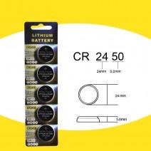 Pin Lithium CR2450 (vỉ 5 viên)