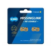 Masterlink KMC CL555R-Ti-N cho sên 11 líp (gold) (vỉ 2 cặp)