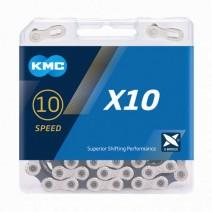 Sên KMC X10 SILVER & BLACK (10 líp)