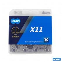 Sên KMC X11 Ti-N SILVER & BLACK (11 líp)