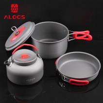 Bộ nồi nấu ăn ALOCS CW-C19T (3 món - dành cho 2 - 3 người)