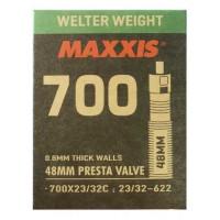 Ruột xe đạp Maxxis Welter Weight 700 x 23/32 (van Pháp - 48mm)