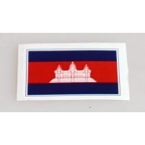 """Decal chống nước hình cờ Cambodia (kích thước 1,5"""" x 1"""")"""