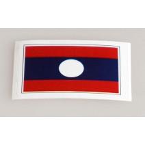 """Decal chống nước hình cờ Laos (kích thước 1,5"""" x 1"""")"""