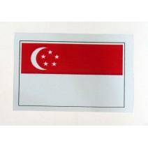 """Decal chống nước hình cờ Singapore (kích thước 1,5"""" x 1"""")"""