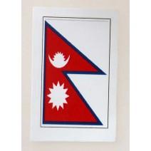 """Decal chống nước hình cờ Nepal (kích thước 1,5"""" x 1"""")"""