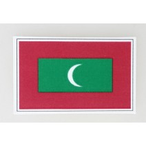 """Decal chống nước hình cờ Maldives (kích thước 1,5"""" x 1"""")"""