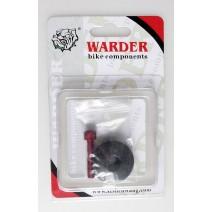 Nắp chén cổ xe đạp carbon WARDER WHC-02-BK (đen)