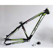 """Sườn xe đạp DEPRO D350 (size 15"""") (đen xanh lá)"""