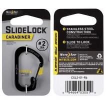 Móc khóa Nite Ize SlideLock Carabiner CSL2-01-R6 (đen) (size #2)
