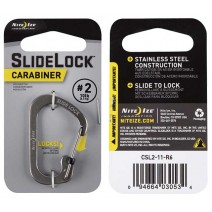 Móc khóa Nite Ize SlideLock Carabiner CSL2-11-R6 (bạc) (size #2)