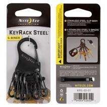 Móc khóa Nite Ize KeyRack Steel KRS-03-01 (đen)