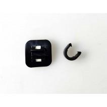 Móc dán giữ dây kèm móc C kẹp dây thắng dây đề (đen)