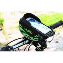 Túi đựng điện thoại gắn ghi đông xe đạp OuJing (màu xanh lá cây)