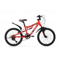 Xe đạp trẻ em SPLITFIRE (6 đến 10 tuổi) (đỏ) (2 nhún) (1 dĩa - 6 líp)