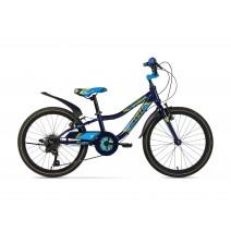 Xe đạp trẻ em STRIKER (6 đến 10 tuổi) (xanh biển) (không nhún) (1 dĩa - 6 líp)