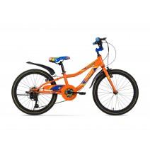 Xe đạp trẻ em STRIKER (6 đến 10 tuổi) (cam) (không nhún) (1 dĩa - 6 líp)