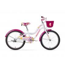 Xe đạp trẻ em CANDY (6 đến 10 tuổi) (trắng) (không nhún) (1 dĩa - 1 líp)