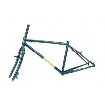Sườn xe đạp touring WindSpeed Long Rider II (xanh nhớt)