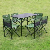 Bộ bàn ghế xếp BBQ dã ngoại MBZ-TZ007 (xanh rêu) (size S)