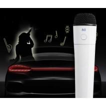 Micro karaoke không dây dành cho ô tô KI U (trắng) (sóng FM)
