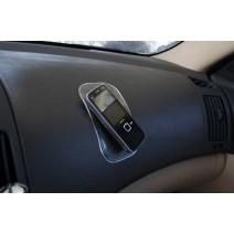 Miếng silicon hít dán trên tap-lô ô tô để điện thoại, tiền xu (xanh lá)