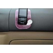 Miếng silicon hít dán trên tap-lô ô tô để điện thoại, tiền xu (hồng)