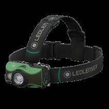 Đèn đeo trán LedLenser MH8 (600 lumen) (pin sạc) (3 chế độ màu) (xanh lá cây)