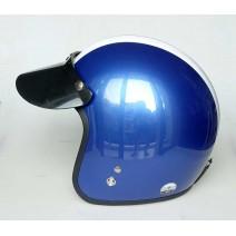 Nón bảo hiểm xe máy loại 3/4 đầu Damtrax (xanh dương sọc trắng)