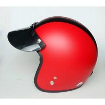 Nón bảo hiểm xe máy loại 3/4 đầu Damtrax (đỏ sọc đen)