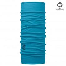 Khăn ống đa năng BUFF MERINO WOOL SOLID BLUE CAPRI (BUFF 113010.718.10.00)