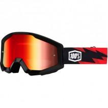 Kính thể thao 100% Strata Goggles - Slash/Mirror Red Lens
