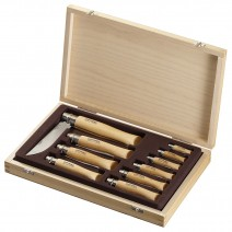 Bộ Dao Opinel Wooden Box 10 Inox - Stainless Steel (OPI 001311)