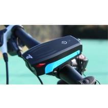 Đèn chiếu sáng tích hợp kèn xe đạp AS0909 sạc USB (sọc xanh biển) (400 lumen) (130db)