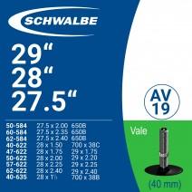 """Ruột xe đạp SCHWALBE AV19 27.5"""" - 28"""" - 29"""" - 700c (van Mỹ)"""