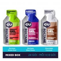 Gel năng lượng GU Roctane Energy Gel (pha trộn 3 mùi) (nguyên hộp 24 gói)