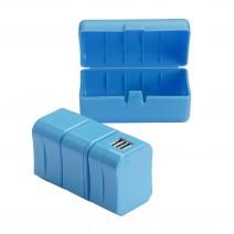 Bộ phích cắm du lịch Lewis N. Clark Adapter Plug Kit (2 cổng sạc USB) (dùng cho hơn 175 quốc gia) (xanh dương) (LNC EK135)