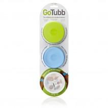 Hộp đựng đa năng HumanGear GoTubb Medium (60ml) (3 hộp) (trong suốt / xanh lá / xanh dương)