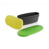 Bộ hộp đựng thực phẩm Light My Fire SnapBox Oval 2pack (xanh chuối / xanh lá cây) (LMF 40414413)
